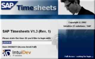 Login-form of a timesheet-application.